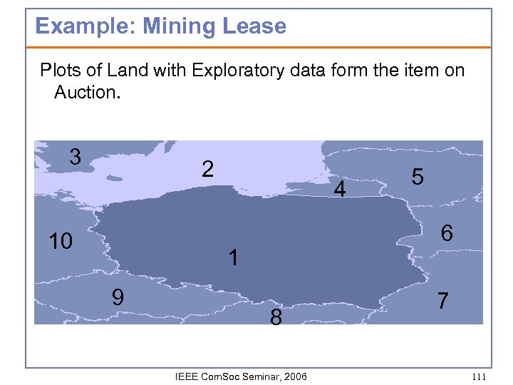 Example: Mining Lease Plots of Land with Exploratory data form the item on Auction.