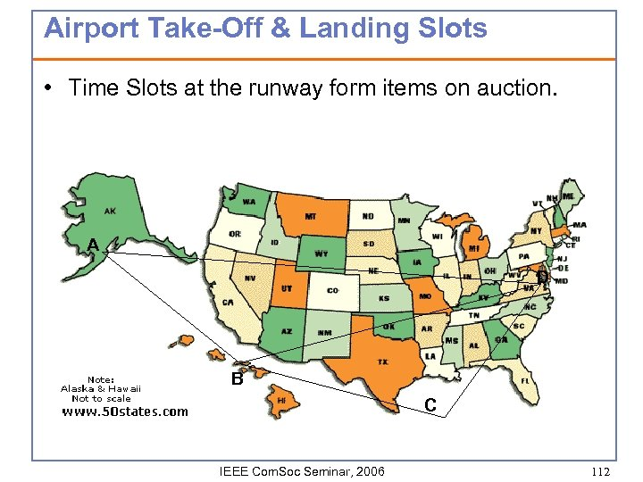 Airport Take-Off & Landing Slots • Time Slots at the runway form items on