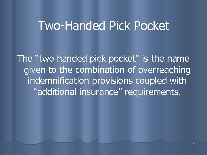"""Two-Handed Pick Pocket The """"two handed pick pocket"""" is the name given to the"""