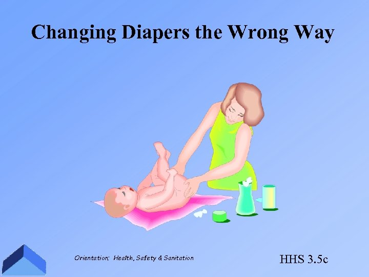 Changing Diapers the Wrong Way Orientation; Health, Safety & Sanitation HHS 3. 5 c