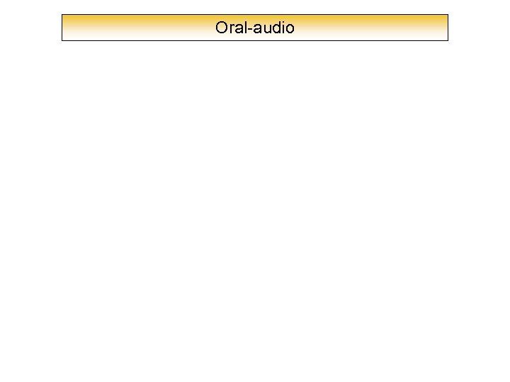 Oral-audio
