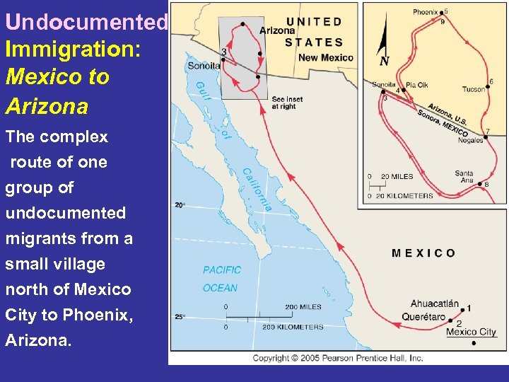 Undocumented Immigration: Mexico to Arizona The complex route of one group of undocumented migrants