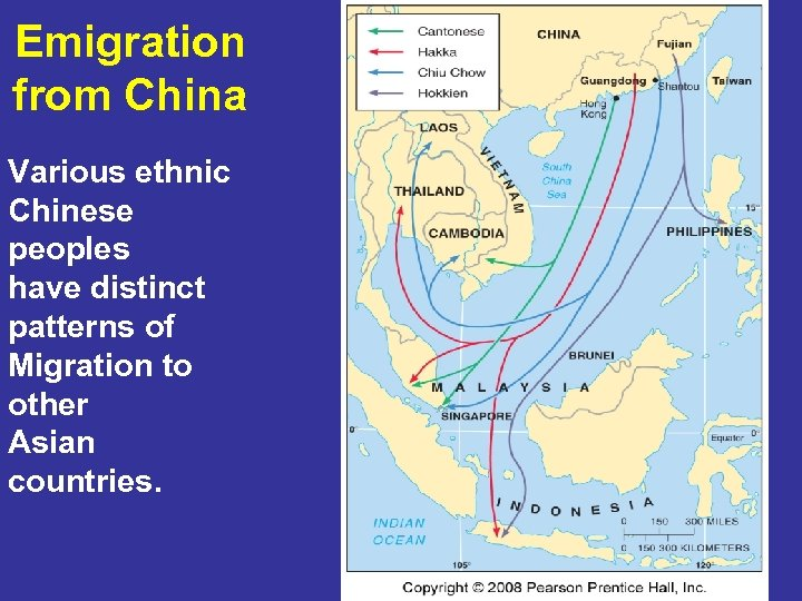 Emigration from China Various ethnic Chinese peoples have distinct patterns of Migration to other