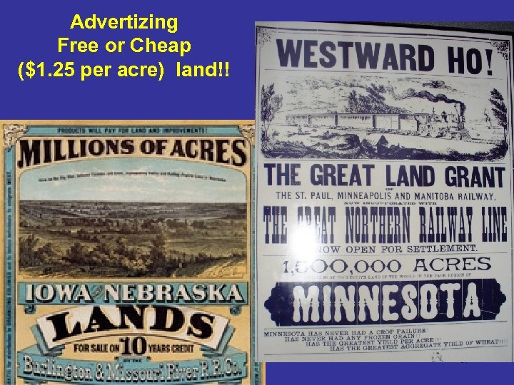 Advertizing Free or Cheap ($1. 25 per acre) land!! 67