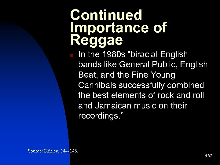 """Continued Importance of Reggae n In the 1980 s """"biracial English bands like General"""