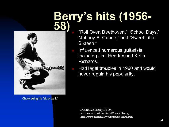 """Berry's hits (195658) """"Roll Over, Beethoven, """" """"School Days, """" n n n"""