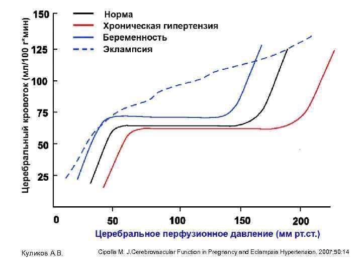 Куликов А. В. Cipolla M. J. Cerebrovascular Function in Pregnancy and Eclampsia Hypertension. 2007;