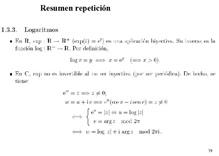Resumen repetición 79