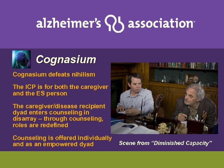 Cognasium defeats nihilism The ICP is for both the caregiver and the ES