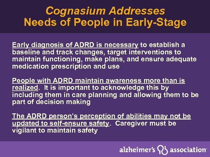 Cognasium Addresses Needs of People in Early-Stage Early diagnosis of ADRD is necessary to