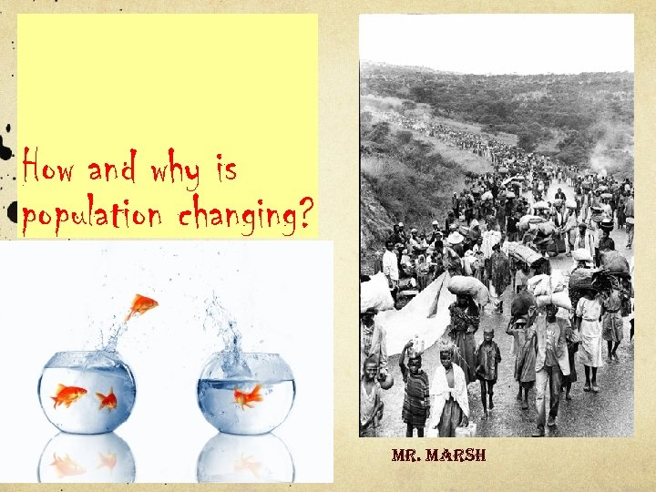 How and why is population changing? mr. marsh