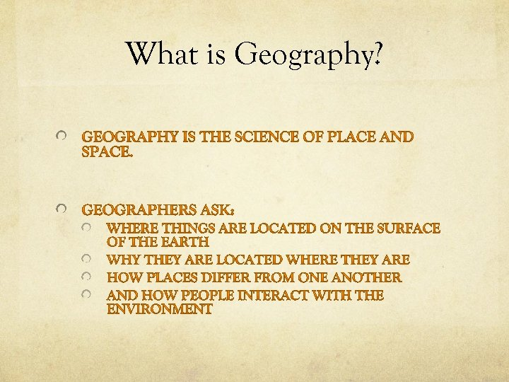 What is Geography?