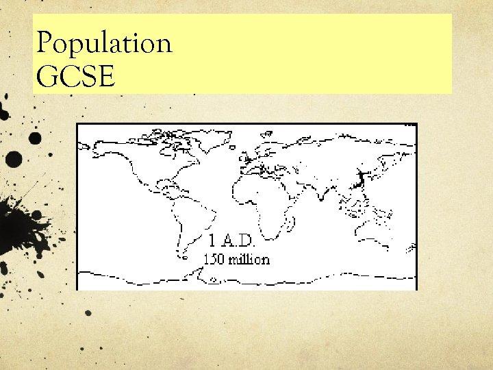 Population GCSE