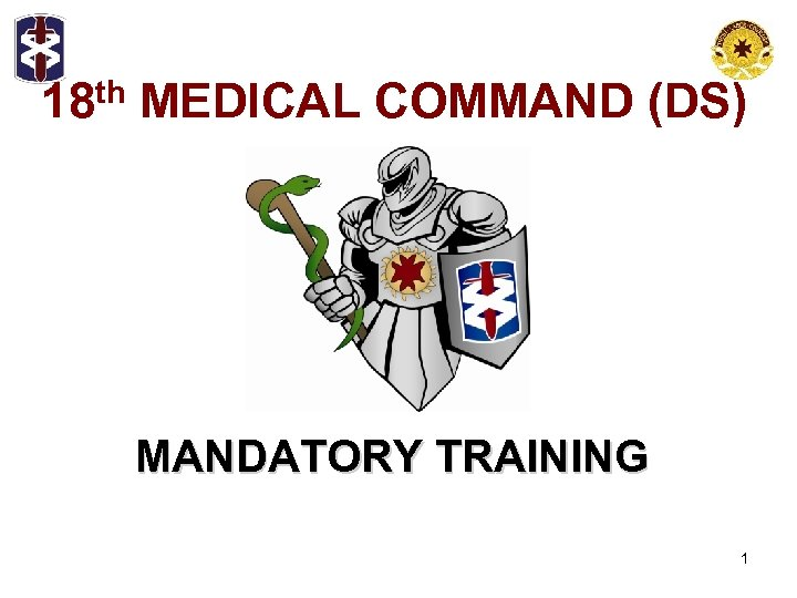 18 th MEDICAL COMMAND (DS) MANDATORY TRAINING 1