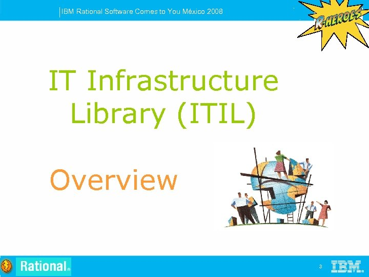 IBM Rational Software Comes to You México 2008 IT Infrastructure Library (ITIL) Overview 3