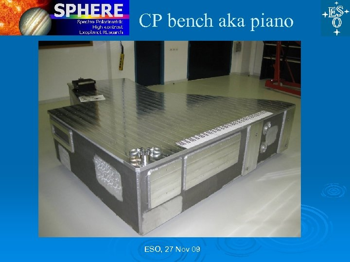 CP bench aka piano ESO, 27 Nov 09