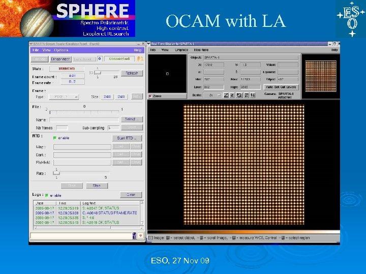 OCAM with LA ESO, 27 Nov 09