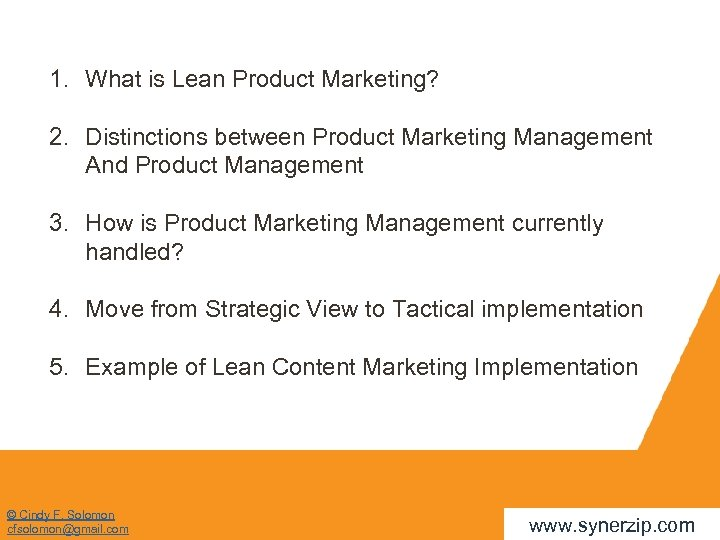 1. What is Lean Product Marketing? 2. Distinctions between Product Marketing Management And Product