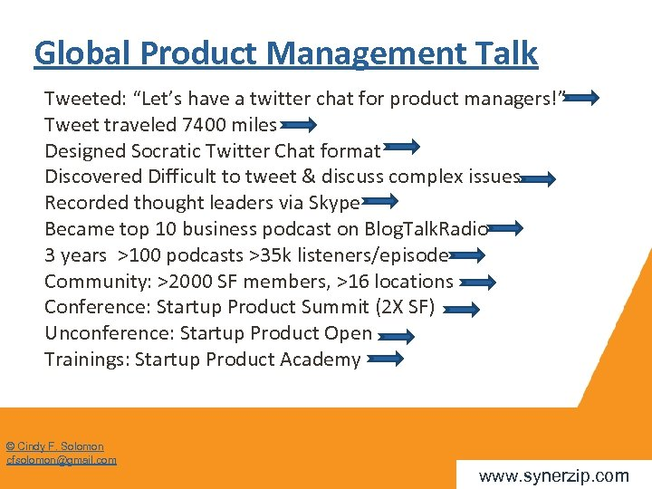 """Global Product Management Talk Tweeted: """"Let's have a twitter chat for product managers!"""" Tweet"""