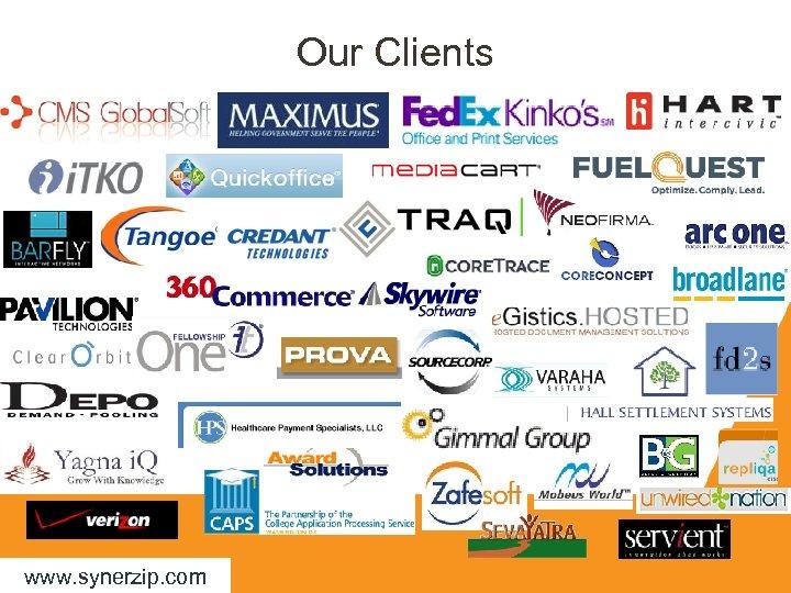 Our Clients www. synerzip. com