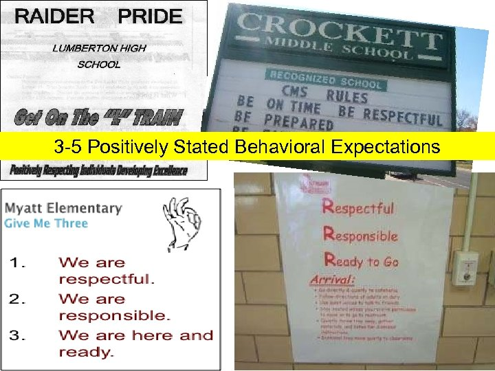 3 -5 Positively Stated Behavioral Expectations