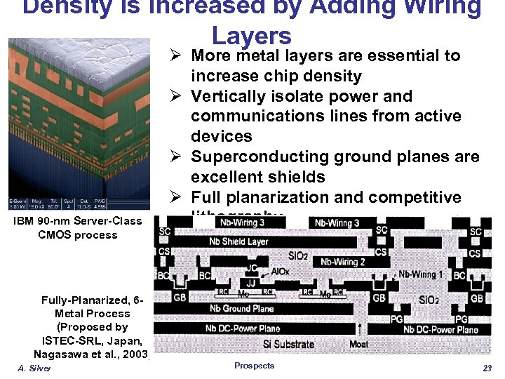 Density Is Increased by Adding Wiring Layers IBM 90 -nm Server-Class CMOS process Ø