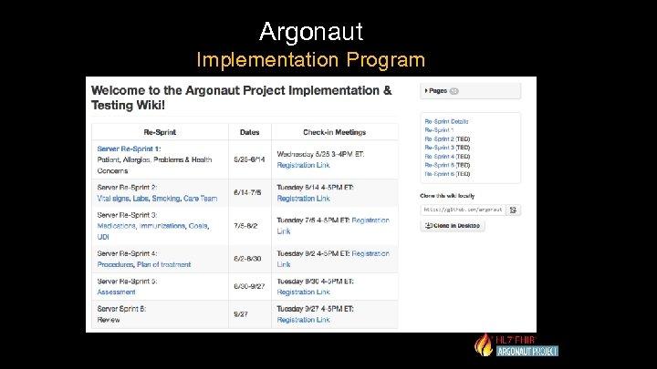 Argonaut Implementation Program