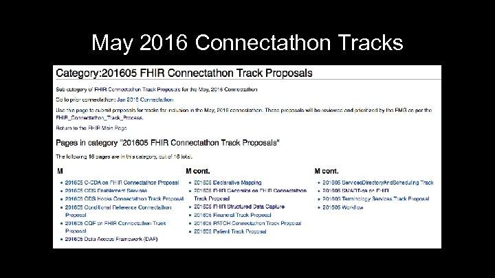 May 2016 Connectathon Tracks 28