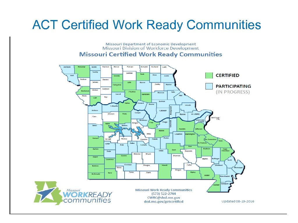 ACT Certified Work Ready Communities