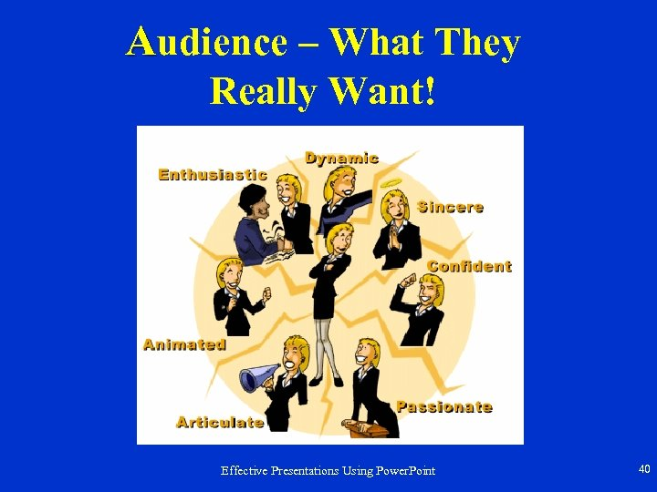 Audience – What They Really Want! Effective Presentations Using Power. Point 40