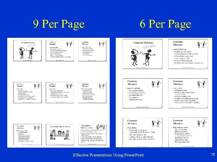 9 Per Page 6 Per Page Effective Presentations Using Power. Point 70