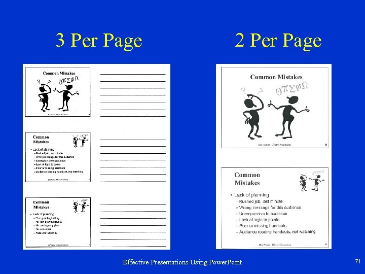 3 Per Page 2 Per Page Effective Presentations Using Power. Point 71