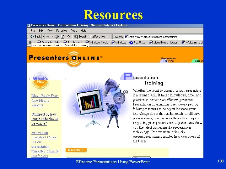 Resources Effective Presentations Using Power. Point 106