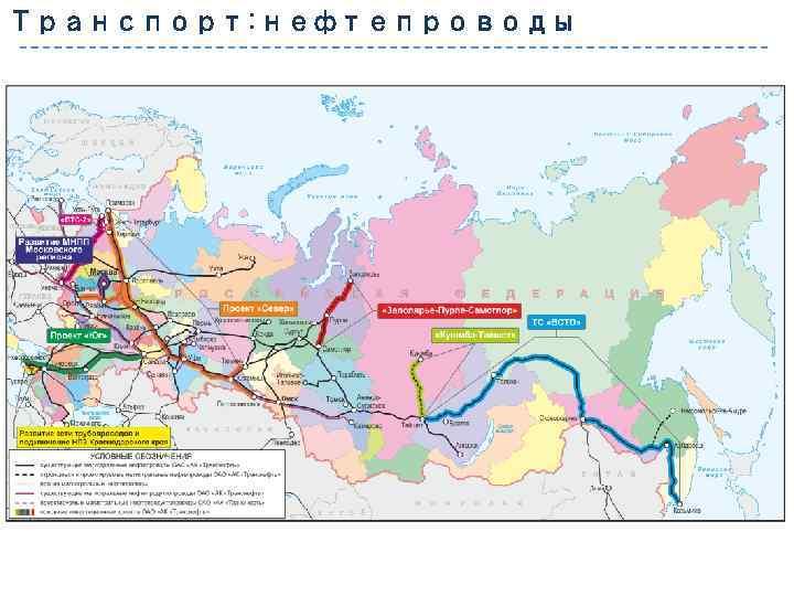 Транспорт: нефтепроводы