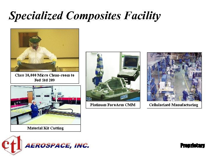 Specialized Composites Facility Class 10, 000 Micro Clean-room to Fed Std 209 Platinum Faro.
