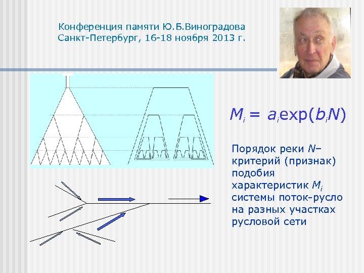 Конференция памяти Ю. Б. Виноградова Санкт-Петербург, 16 -18 ноября 2013 г. Mi = aiexp(bi.