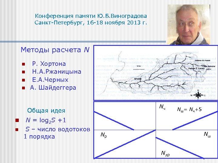 Конференция памяти Ю. Б. Виноградова Санкт-Петербург, 16 -18 ноября 2013 г. Методы расчета N