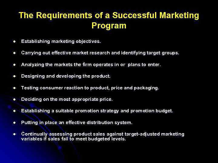 distribution objectives