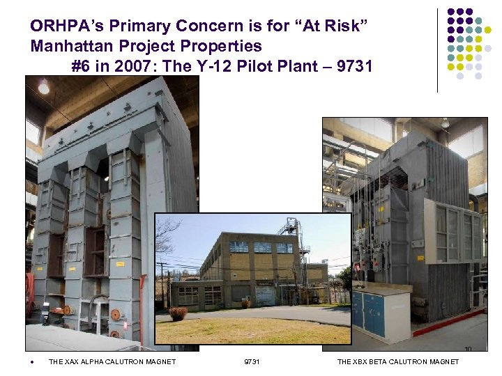 """ORHPA's Primary Concern is for """"At Risk"""" Manhattan Project Properties #6 in 2007: The"""