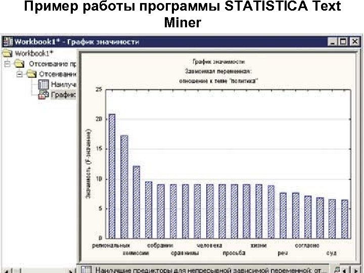 Пример работы программы STATISTICA Text Miner