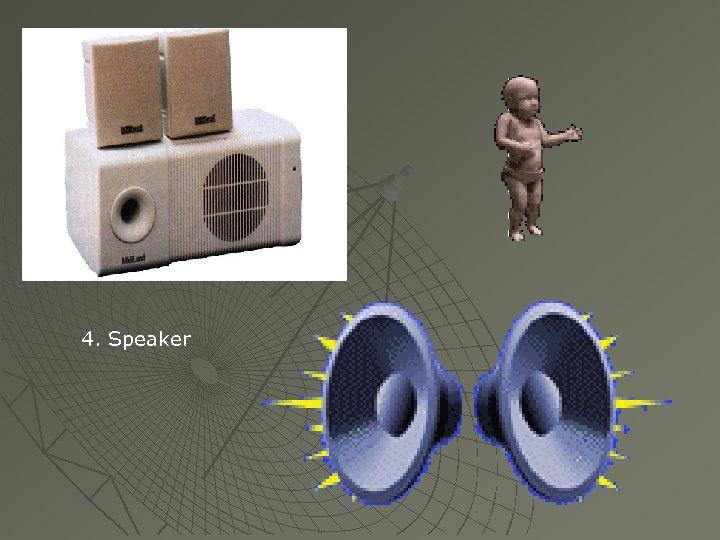 4. Speaker