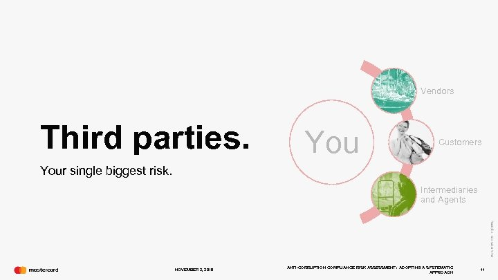 Vendors Third parties. You Customers Your single biggest risk. Intermediaries and Agents NOVEMBER 2,