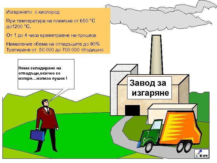 Изгарянето с кислород При температура на пламъка от 650 °C до 1200 °C. От