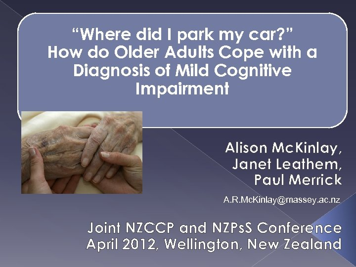 """Where did I park my car? "" How do Older Adults Cope with a"
