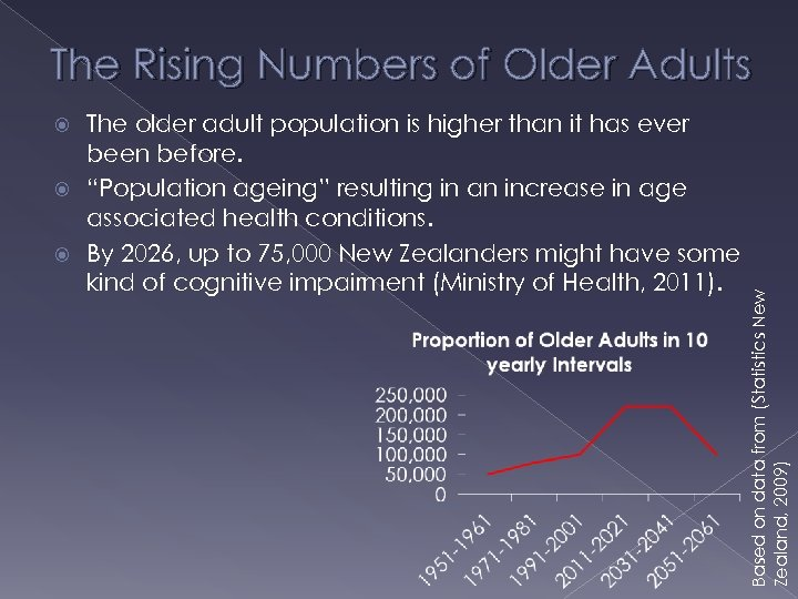 The Rising Numbers of Older Adults The older adult population is higher than it
