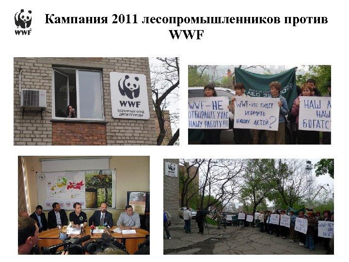 Кампания 2011 лесопромышленников против WWF 15/03/2018 - 18