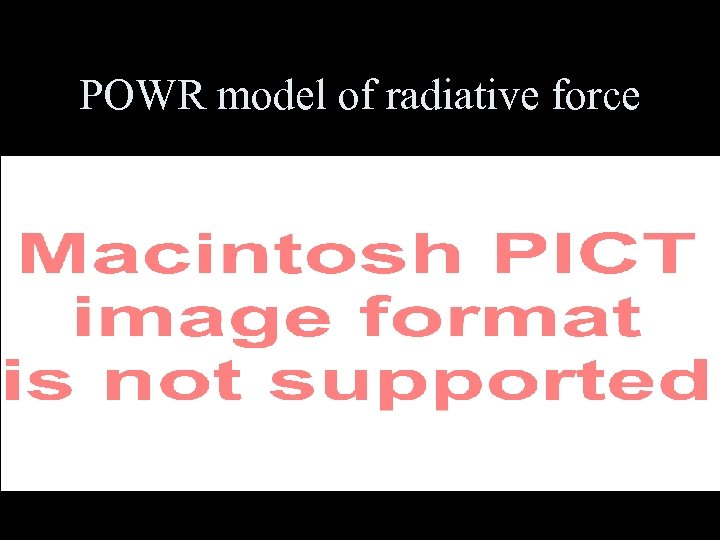 POWR model of radiative force