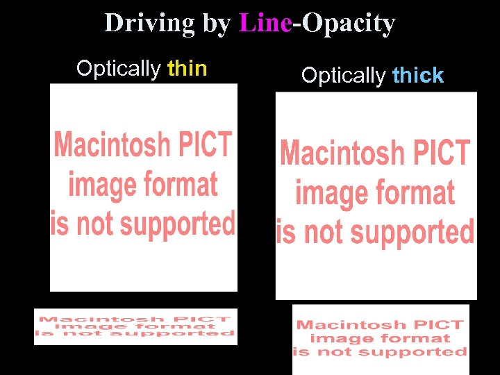 Driving by Line-Opacity Optically thin Optically thick
