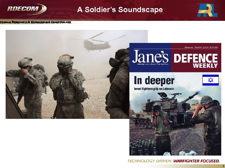A Soldier's Soundscape Human Research & Engineering Directorate 5