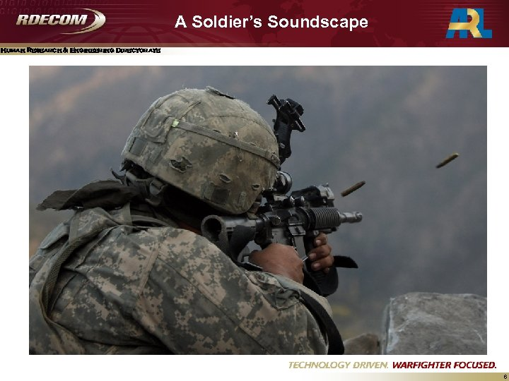 A Soldier's Soundscape Human Research & Engineering Directorate 6